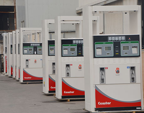 What is the flow rate of gasoline station fuel dispensers